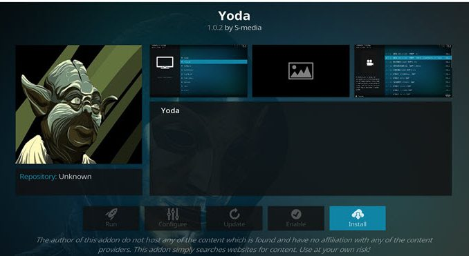 Yoda Addon Guide - Kodi Reviews