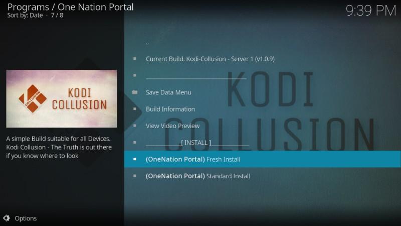 kodi collusion fresh install guide