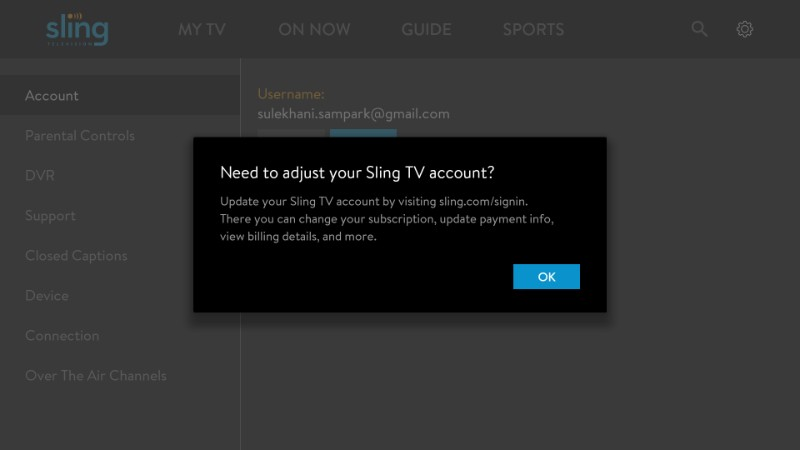 how to cancel sling tv on firestick