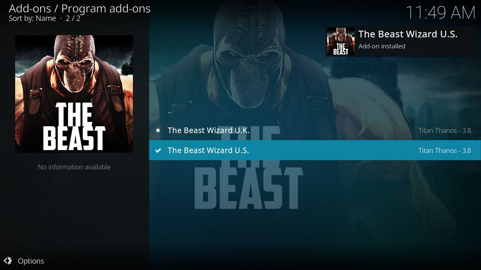 the beast kodi build