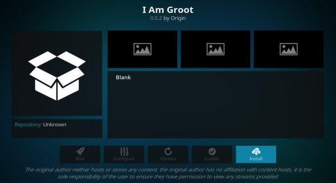 I Am Groot Addon Guide