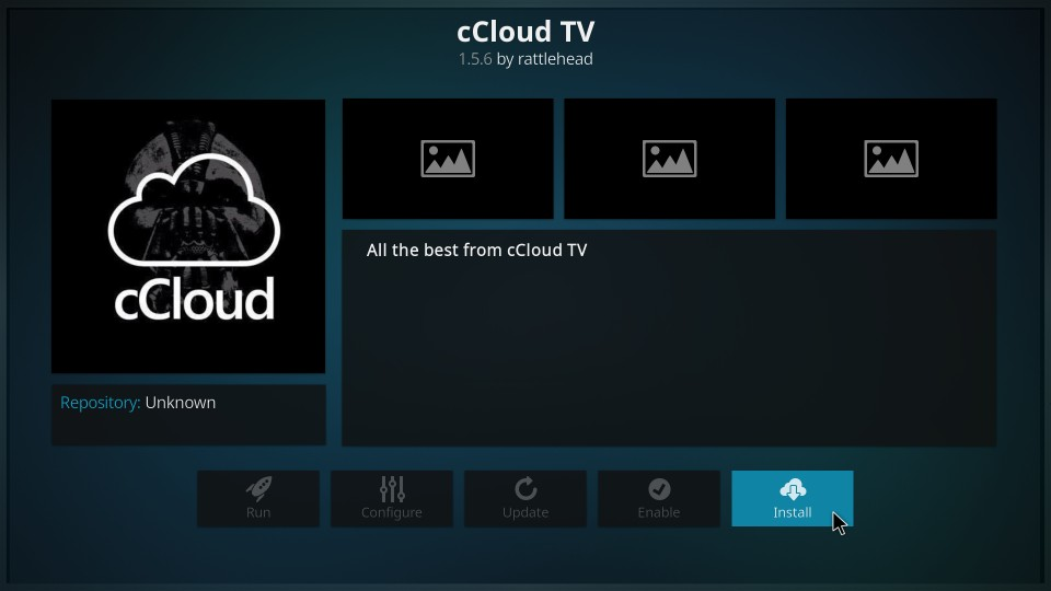 how to install ccloud on kodi