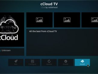 How to Install cCloud Kodi Addon on 17.6 Krypton