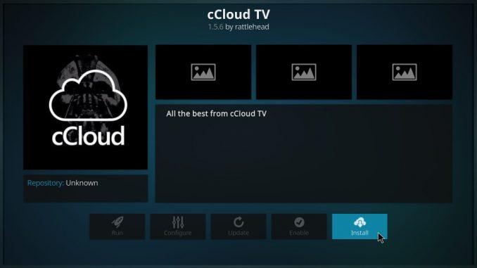How to Install cCloud Kodi Addon on 17.6 Krypton
