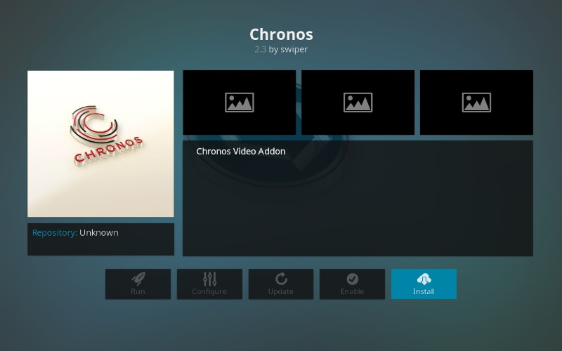 how to install Chronos on kodi