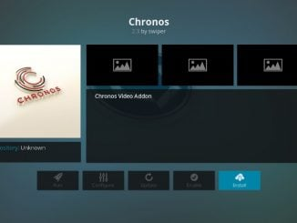 How to Install Chronos Kodi Addon
