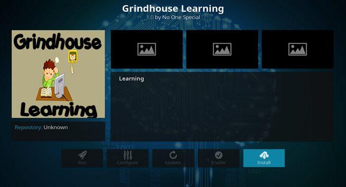 GrindHouse Learning Addon - Kodi Reviews
