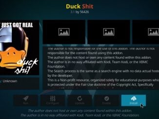 How to Install Duck Shit Kodi Addon