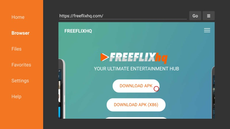 download freeflix hq apk on amazon fire stick