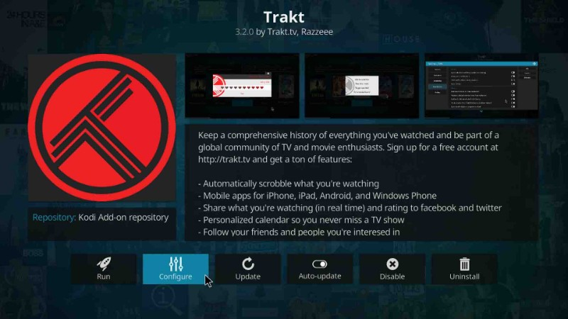 here is how to configure trakt account on kodi