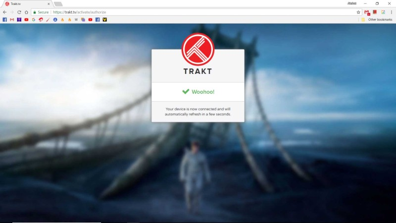 activate trakt for kodi