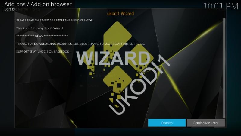 how to install UKodi1 Build wizard