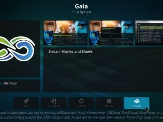 How to Install Gaia Kodi Addon on Kodi 17.6 Krypton