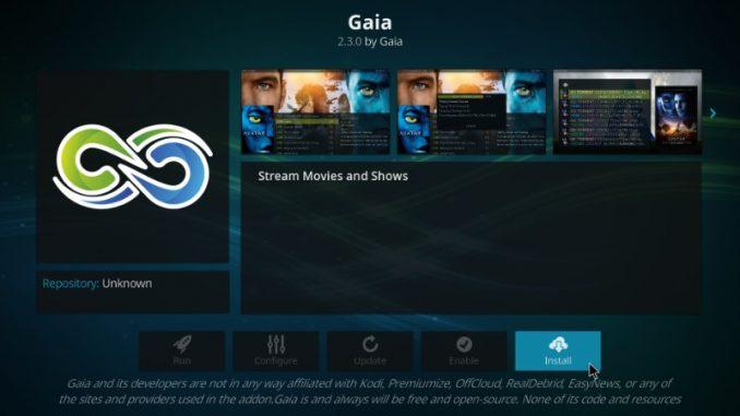 How to Install Gaia Kodi Addon on Kodi 17.6 Krypton