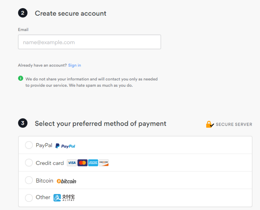nordvpn payment page