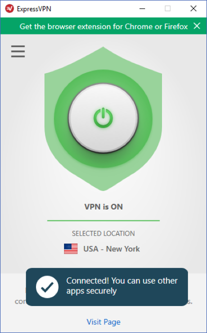 expressvpn connected