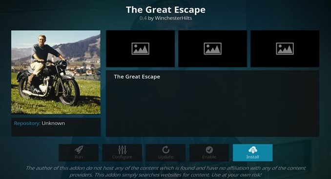 The Great Escape Addon Guide