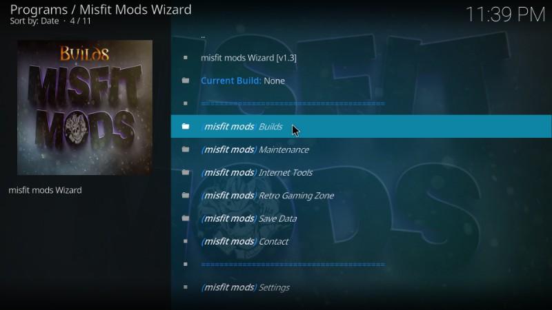 misfit mods builds