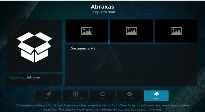 Abraxas Addon Guide - Kodi Reviews