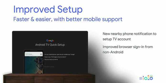 android tv faster setup process