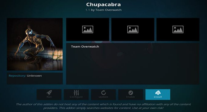 Chupacabra Addon Guide - Kodi Reviews