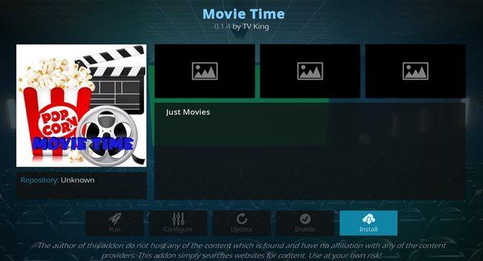 Movie Time Addon Guide - Kodi Reviews