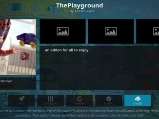 Playground Addon Guide - Kodi Reviews