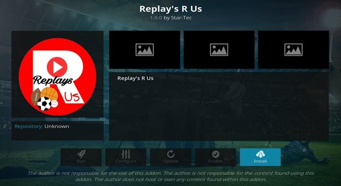 Replays R Us Addon Guide