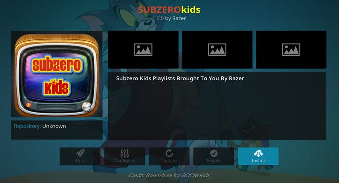 Subzero Kids Addon Guide - Kodi Reviews