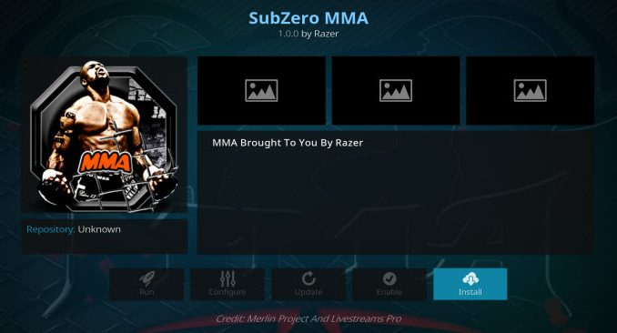 Subzero MMA Addon Guide - Kodi Reviews