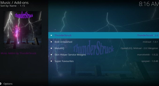 ThunderStruck Addon Guide - Kodi Reviews