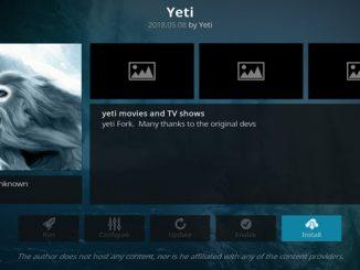 Yeti Addon Guide - Kodi Reviews