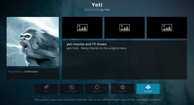 Yeti Addon Guide - Kodi Reviews