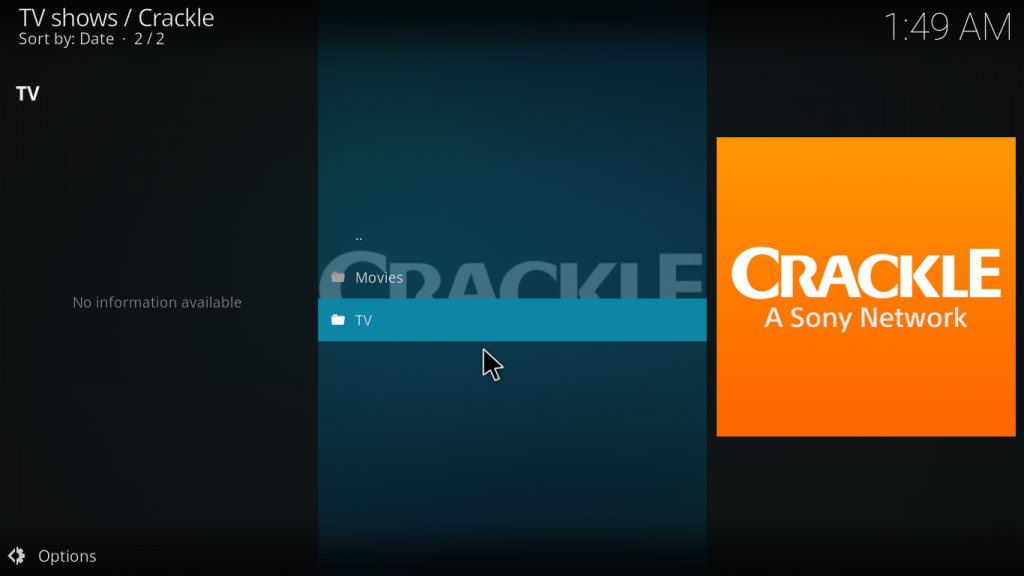 Crackle Kodi Addon - What to expect