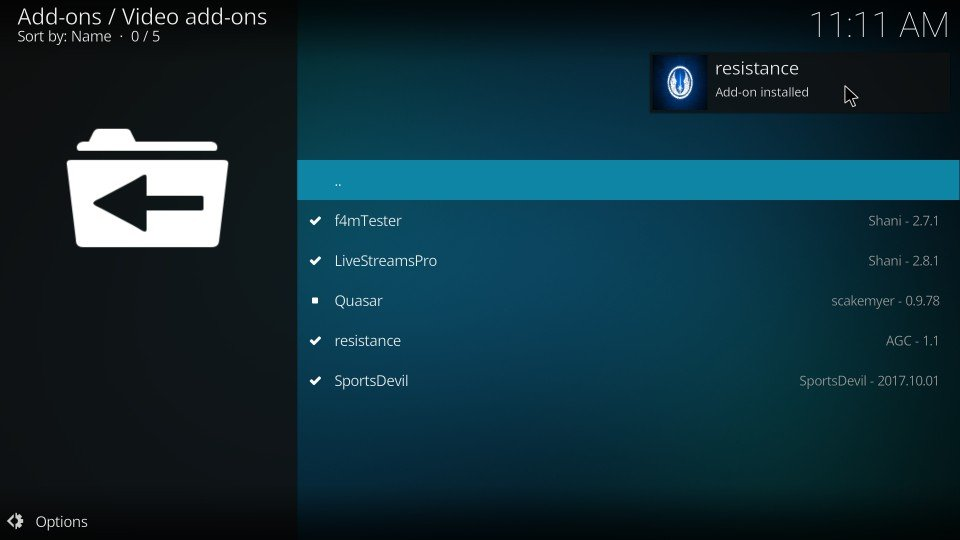 how to get resistance kodi addon