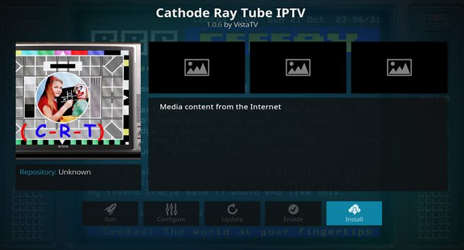 Cathode Ray Tube IPTV Addon Guide
