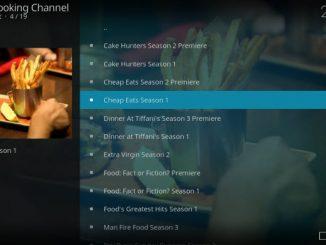 Cooking Channel Addon Guide - Kodi Reviews
