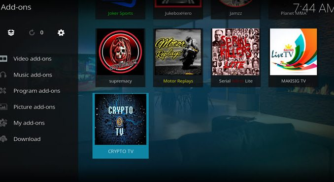 Crypto TV Addon Guide - Kodi Reviews