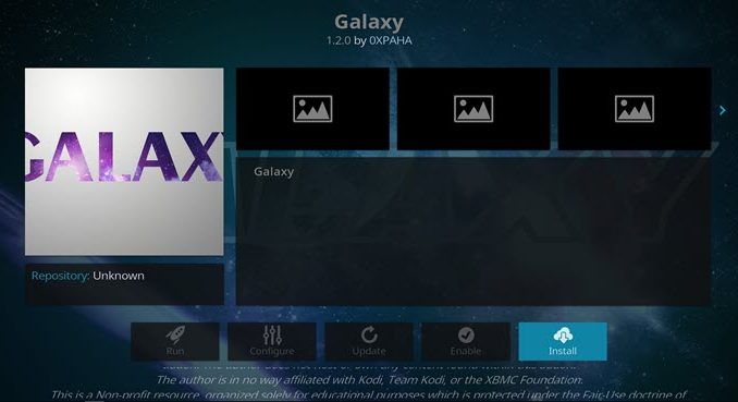 Galaxy Addon Guide - Kodi Reviews