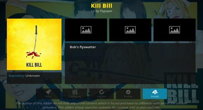 Kill Bill Addon Guide - Kodi Reviews