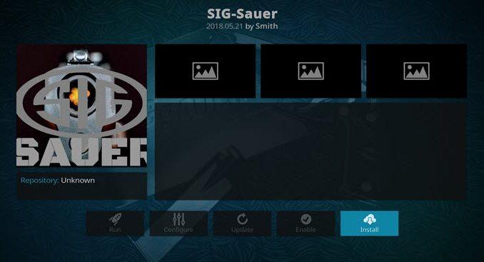 SIG-Sauer Addon Guide - Kodi Reviews