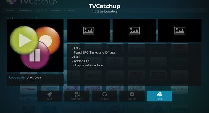TVCatchup Addon Guide - Kodi Reviews