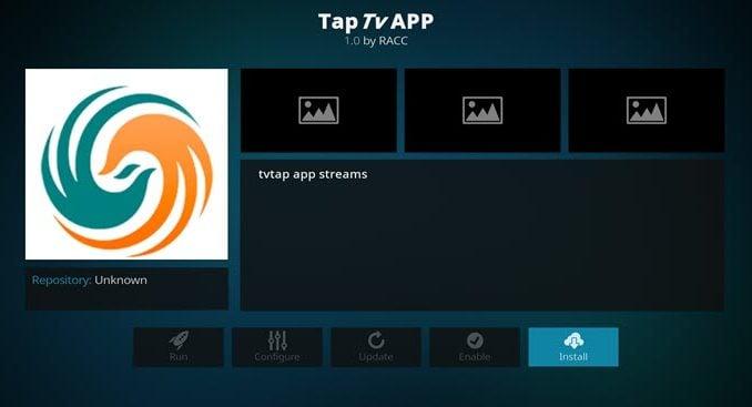 TapTv APP Addon Guide - Kodi Reviews