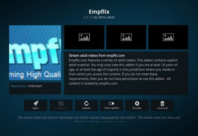 Adult Addons for Kodi -Empflix