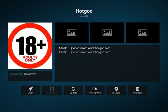 Adult Addons for Kodi -Hotgoo