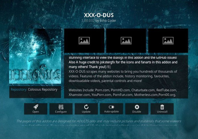 Adult Addons for Kodi -XXX-O-Dus