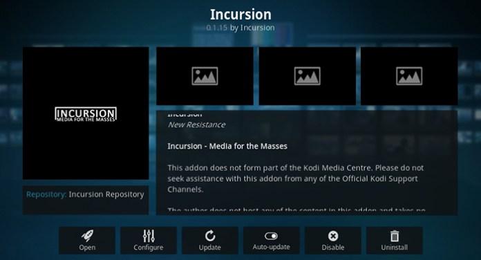 Incursion Kodi Addon