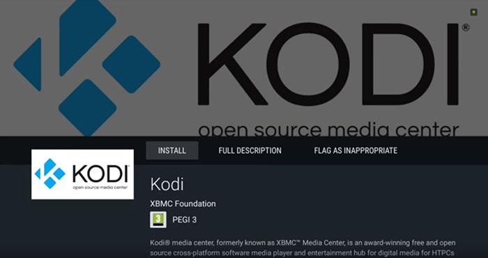 Install Kodi on Android - TV 3