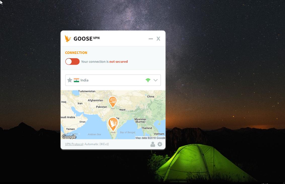 GOOSE VPN Dashboard