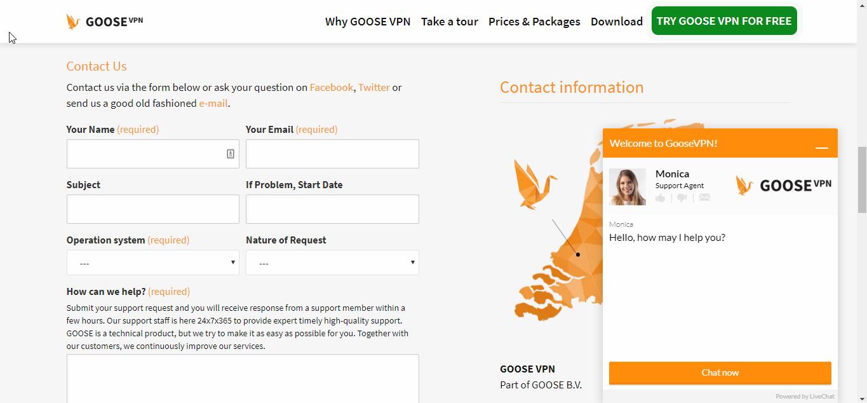 GOOSE VPN Customer Support